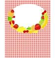 Healthy food menu template vector