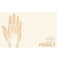 Hands of the family vector