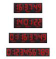Digital countdown timer 04 vector