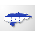 Honduras country map with shadow effect vector