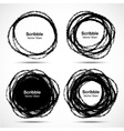 Set of hand drawn in pencil scribble circles vector
