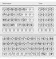 Analog airport scoreboard vector