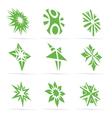 Abstract green symbol set vector