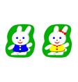 Little rabbit boy and rabbit girl vector