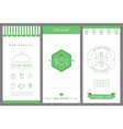 Restaurant vegetarian menu card design template vector