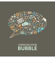 Communication bubble vector