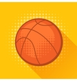 Sports with basketball ball in flat style vector