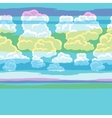 Seamless abstract pattern with sky and clouds vector