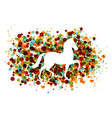 Chinese new year of the horse bubbles eps10 file vector