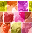 Seamless background with balloon hearts vector