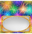 Firework holiday background vector