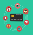 Set icons shopping credit card concept vector