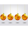 Christmas balls over elegant background eps 8 vector