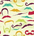 Seamless mustache pattern vector