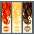 Hairstyle vertical banners vector
