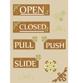 Open and closed two vector