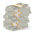 Banknotes stack vector
