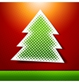 Christmas and new year holidays card with tree vector