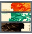 Hairstyle horizontal banners vector