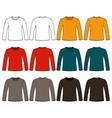 Long-sleeved t-shirt template vector
