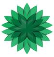 Green wheel flower isolated vector