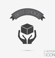 Hands holding box logistic icon vector