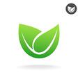 Green leaf icon eco symbol vector