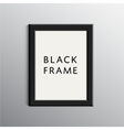 Black 3d frame for a4 vector