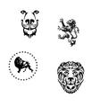 Heraldic lions vector