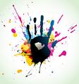 Abstract hand grunge art vector