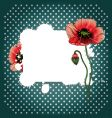 Retro poppy background vector