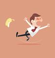 Businessman slipping vector