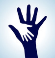 Helping hands vector