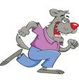 Cartoon running werewolf vector