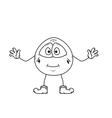Smile emoticon sketch vector