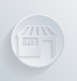 Circle icon with a shadow shop building vector