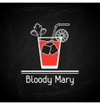 With glass of bloody mary for menu cover vector