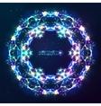 Electric lightnings kaleidoscope frame vector
