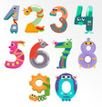 Numbers like robots vector