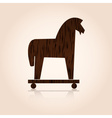 Wood trojan horse eps10 vector