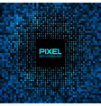 Abstract pixel blue bright glow background vector