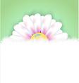 Realistic flower vector