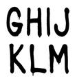 Hand written graffiti font type alphabet part 2 vector