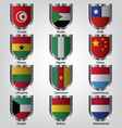 Flags shield collection vector