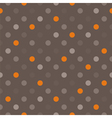 Seamless background with dark polka dots on brown vector