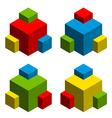 3d abstract cubes vector