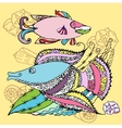Background with two fishes vector