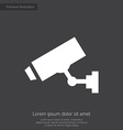 Security camera premium icon white on dark backgro vector