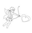 Little cupid is ready to shoot love arrow vector