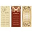 restaurant menu ornament flowers vector